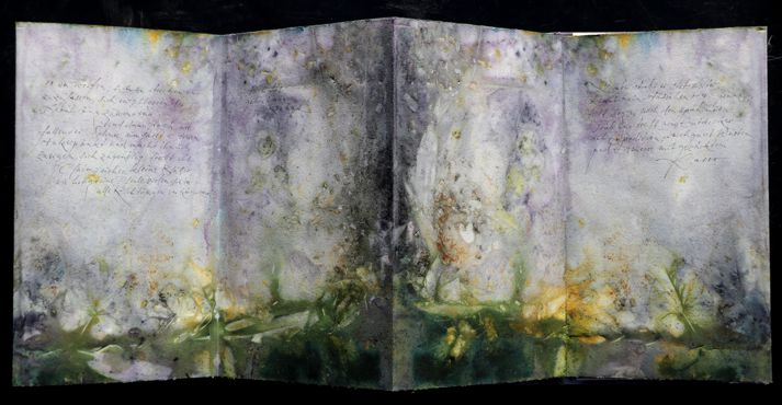 Eco dyed artistbook